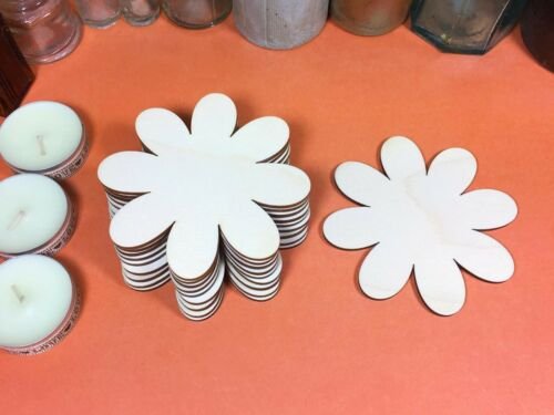 x10 wood flower cutout craft shape blanks WOODEN DAISY Shapes 10cm