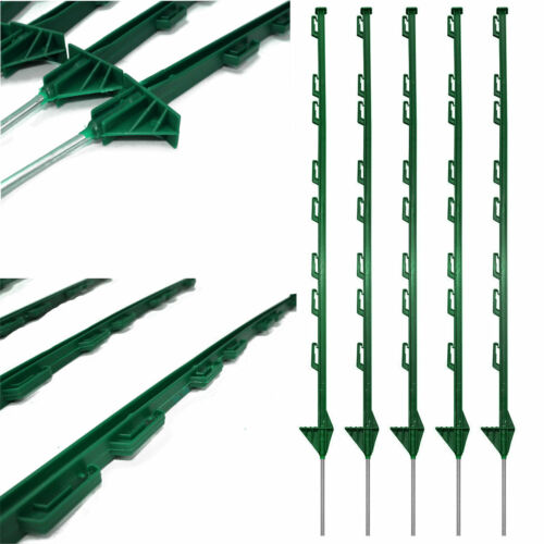 GREEN PLASTIC FENCING PINS POSTS STAKES 1m high for Temporary Event Fencing x 30