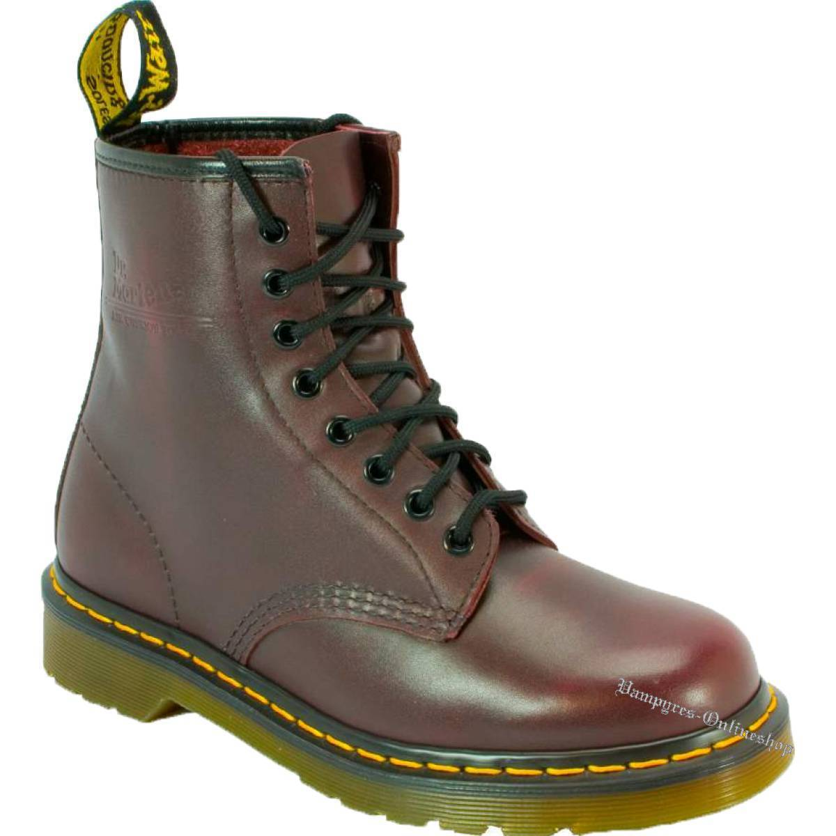 Dr. Martens 1460 ROT Vintage 8-Loch Stiefel Rot 11821602 Docs Stiefel Doc Schuhe
