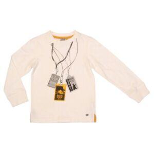 Petit-Lem-Boys-T-Shirt-Ivory-Size-3T-Long-Sleeve-Cotton-Graphic-Tee-Music-NEW