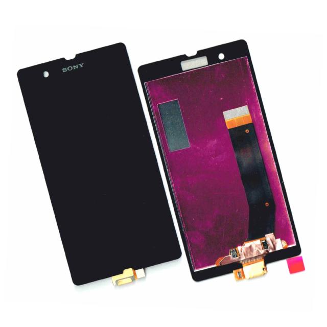 DISPLAY LCD TOUCH SCREEN VETRO VETRINO SONY XPERIA Z C6603 C6602 L36H LT36i NERO