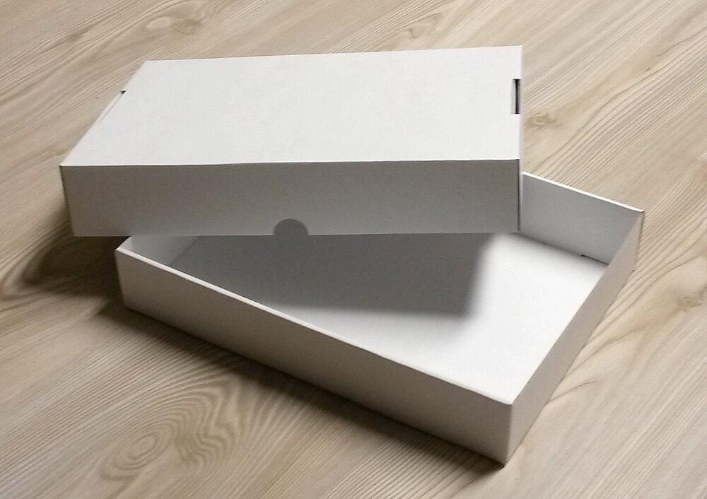 Stülpdeckelkarton für A4 weiß 50er Pack zum Sortieren Basteln Geschenkbox