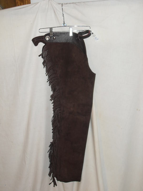 NEW USA MADE ADULT LEATHER SHOTGUN CHAP SIZE BLK LARGE