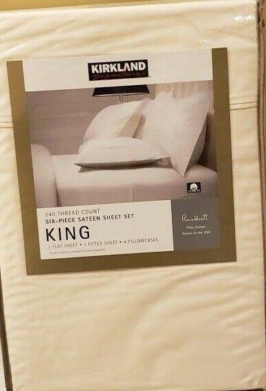 Kirkland Signature Queen Sheet Set White 540TC