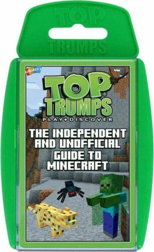 Italiana Gioco da tavola Top Trumps Unofficial Guide to Minecraft Ed