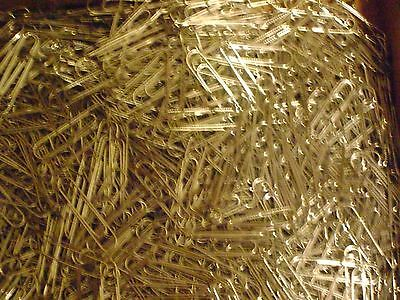 LOT OF 100 SILVER JUMBO PAPER CLIPS GENTLEY USED FOR OFFICE, CRAFTS, HOME USE