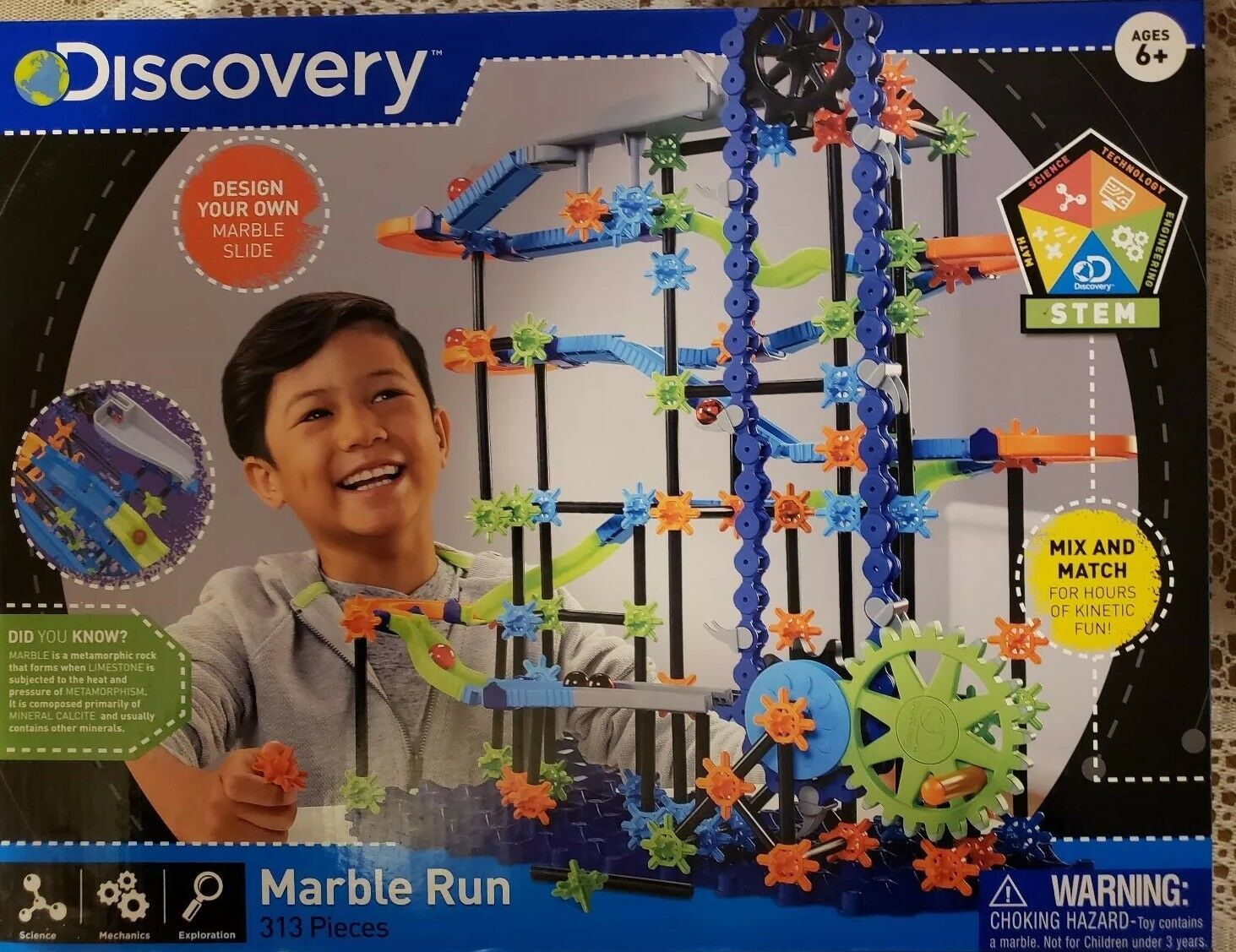 Discovery Marble Run 313 Pieces Design Your Own Own Own Marble Slide New in Box f09013