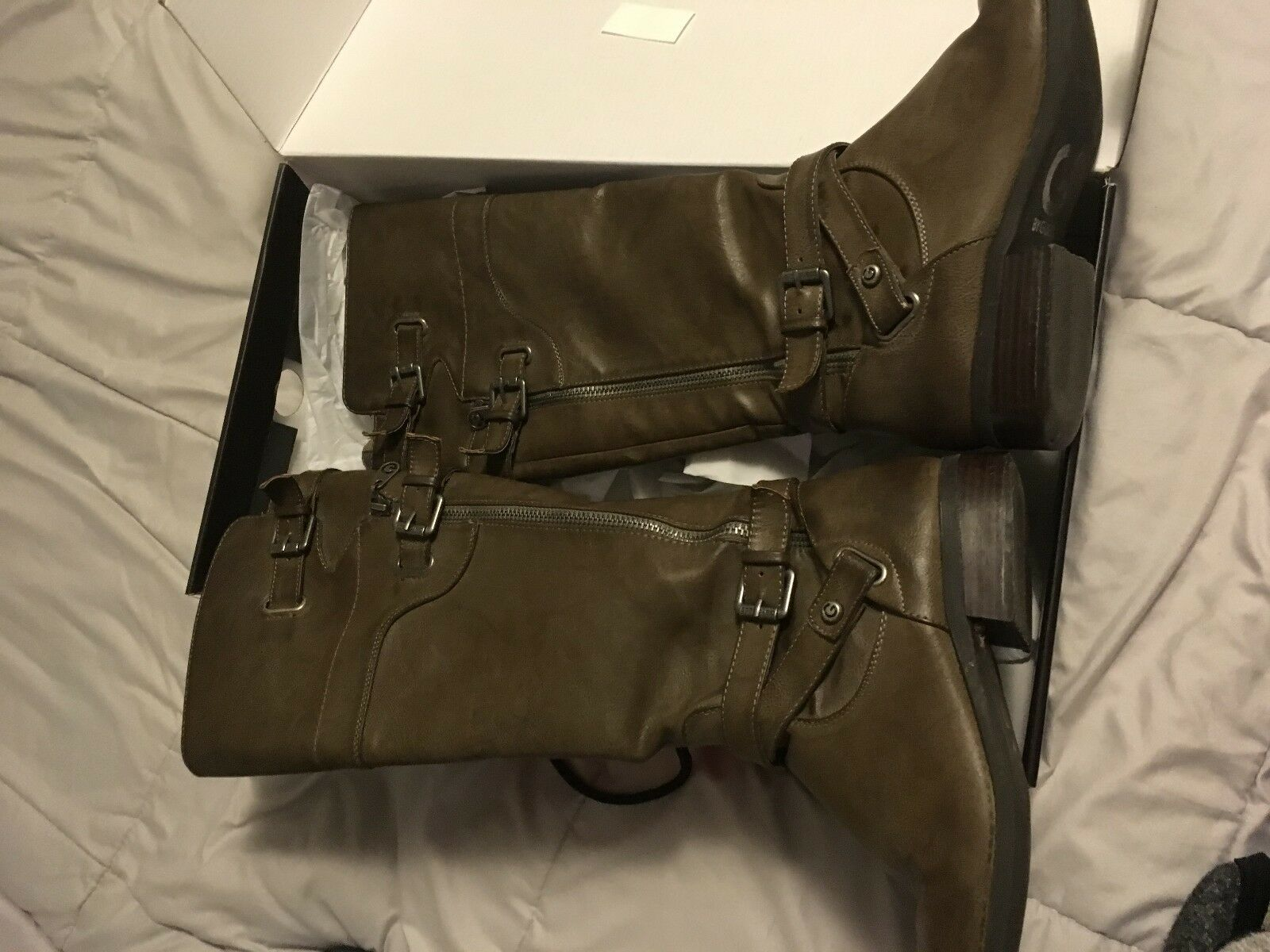 Guess Women's TAUPE LL GG HENRY Boots ShoeS GREAT LOOKING EXPAND TOP