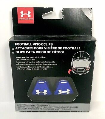 Under Armour Chin Pads Blue And White Heat Gear Cooling