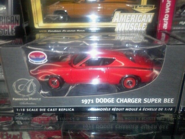 1 18 ERTL AUTHENTICS 1971 CHARGER SUPERBEE ORANGE WITH HIDEAWAY LIGHTS SUPERCAR