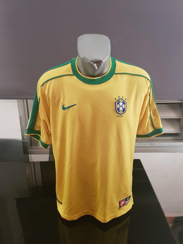 CAMISETA SHIRT VINTAGE 90'S NIKE SELECCIÓN BRASIL BRAZIL TALLA M