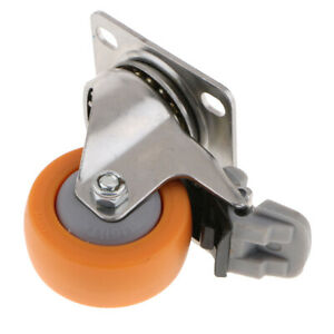 Heavy-Duty-40KG-50mm-Rubber-Swivel-Castor-Wheel-Furniture-Trolley-Caster