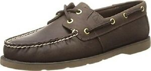 Leeward Sperry Women Sts94008 sider Boat Brown 44212717752 Tan Shoes M 11 Top Leather Dark EUqrnpXwU7