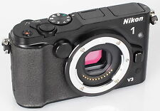 NIKON 1 V3 18.4MP FULL-HD MIRRORLESS COMPACT DIGITAL CAMERA BODY BLACK*BOXED*UK