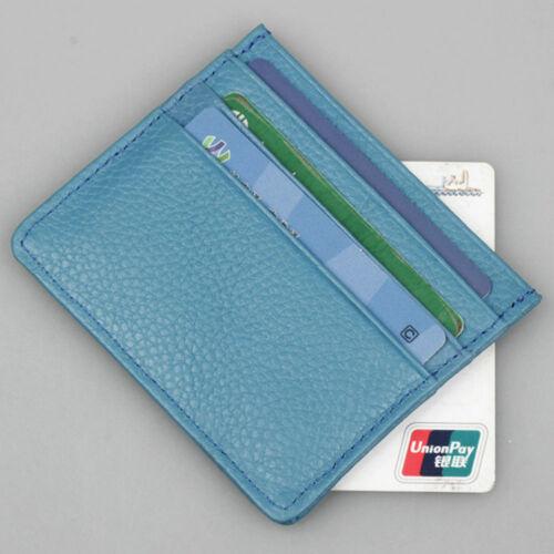 PU Slim Pocket Wallet ID Credit Card Holder Case RFID Blocking Penny Purse New