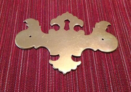 Chippendale Victorian Solid Brass Key Hole Escutcheon