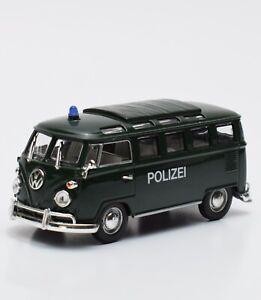 1//87 Brekina VW t2 policía verde bus 3306