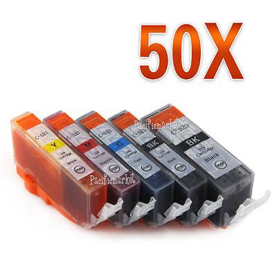 50x Ink PGI-520 CLI-521 for CANON MP540 MP550 MP560 MP630 MP640 MX870 MP980