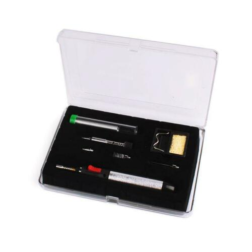 7 in 1 Butane Gas Soldering Iron Set 12ml 400-1300deg Welding Kit Torch