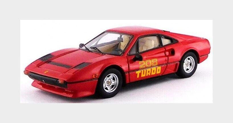 Ferrari 208 Gtb turbo 1980 röd bäst 1 43 BE9678 modellllerlerl