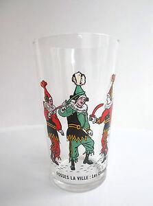 RARE-Ancien-verre-folklore-belge-Fosses-la-Ville-Les-Chinels-No-moutarde-biere