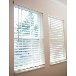 Details About Brand New Allen Roth 2 5 In Cordless White Faux Wood Blinds 52 X 64 0795203