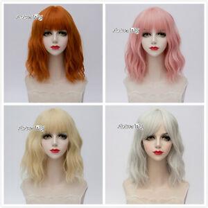 35CM-Short-Light-Blonde-Orange-Light-Pink-Sliver-Curly-Lolita-Cosplay-Wigs