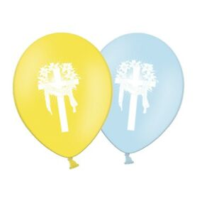 Happy-Easter-Cross-12-034-Printed-Latex-Balloons-Asst-Pack-of-25-By-Party-Decor