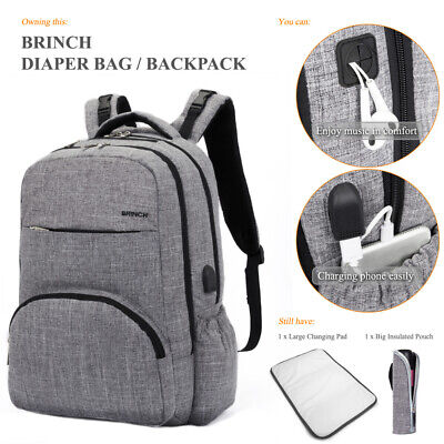 Baby Nappy Changing Backpack Mummy Bag Diaper Rucksack Backpack for Mom Dad