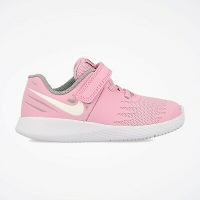 low priced bfcb9 c1e2b Nike STAR RUNNER (TDV) Toddlers Pink Rise/White 907256-602 Hook & Loop  Shoes | eBay