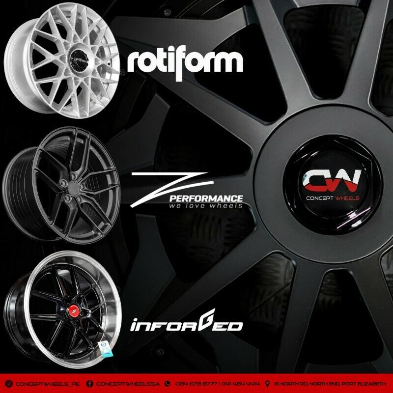 CONCEPT WHEELS 19 INCH ORIGINAL ROTIFORM AND NICHE RIMS NOW IN STOCK PCD 5/112 AND 5/120