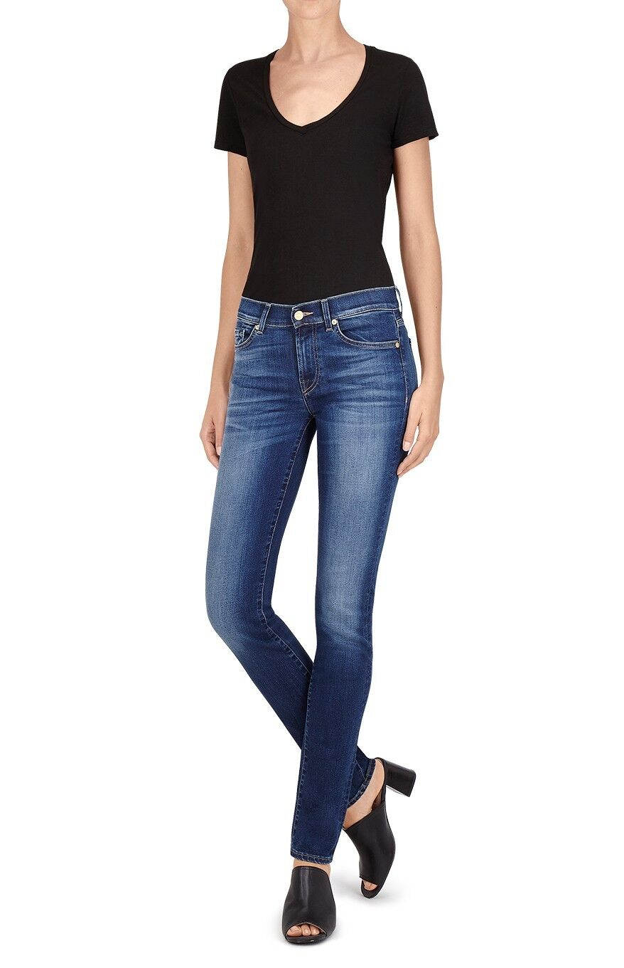 7 For all Mankind Roxanne Blau mid rise jeans - Größe 26 - 170 Net a Porter