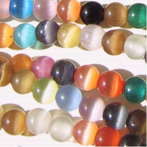 A3715 Assorted Mixed 200 pcs 4mm Cat/'s Eye Round Beads Tiny Beads