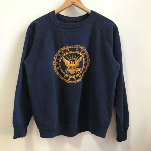 Vintage USN US Navy Crewneck Sweatshirt Flocked Cr