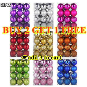 24Pcs-Glitter-Christmas-Balls-Baubles-Xmas-Tree-Hanging-Ornament-Christmas-Decor