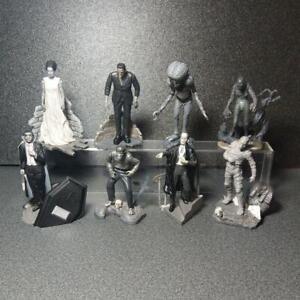 Universal-Studios-Monsters-Figure-Collection-Monotone-8pcs-Set-Silver-Screen