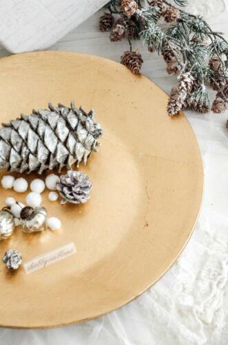 Platzteller Holzteller Kerzenteller Adventsdeko Weihnachtsdekoration Shabby Chic