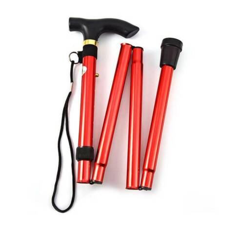 Metal Trekking Pole Walking Stick Collapsible Anti-Shock Outdoor Telescopic Y3
