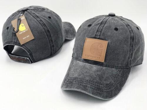 Mens Womens Carhartt Odessa Cap Adjustable Fast-Dry Leather Label Baseball Hot