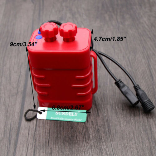 8.4v 6pcs 18650 Waterproof Battery Pack Case House Cover for Bicycle Lamp New