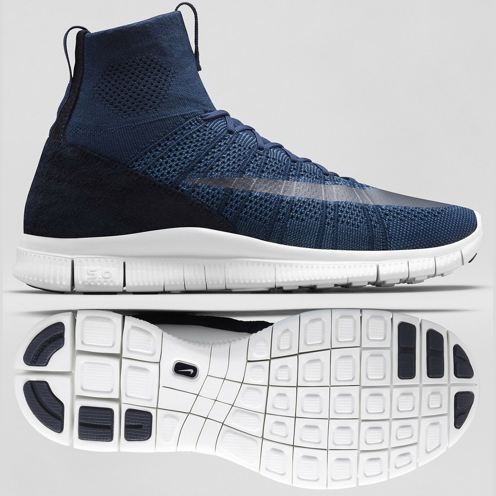 Nike HTM Free Mercurial Superfly SP 667978-441 Dark Obsidian White shoes CR7