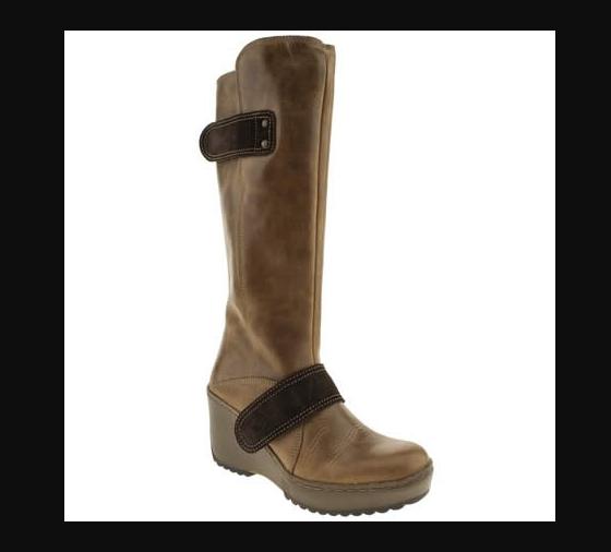 Fly London morganne botas botas botas de Cuña con Plataforma De Cuero De Camello Mux UK 4 EUR 37  Ven a elegir tu propio estilo deportivo.