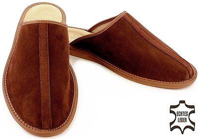 Herren HausSchuhe, Pantoffeln, Latschen aus Wildleder in zeitlosen Design NEU