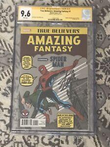 Marvel-Spiderman-True-Believers-Amazing-Fantasy-1-CGC-9-6-Stan-Lee-Autograph