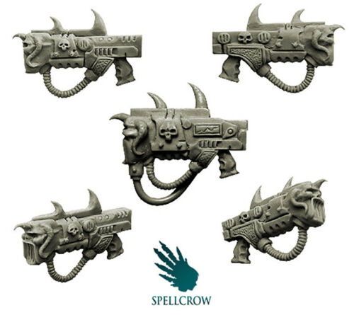 SPELLCROW 5 MIXED SONIC GUNS PLEASURE LEGION COMPATIBLE 28MM BITS CONVERSION