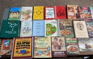 Lot of 20 Spiral Bound Community Church Fundraiser and More COOKBOOKS