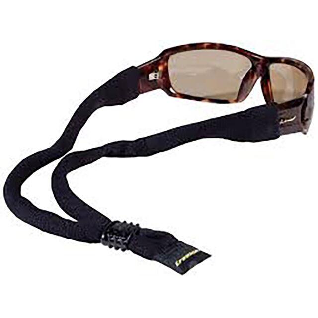Croakies XL Cotton Suiter Eyewear Retainer Black Adjustable Glasses Strap Secure