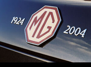 MG-TF-Anniversary-Badge-1924-To-2004-Crome-Enamel-Numbers-18mm-With-3m-Backing