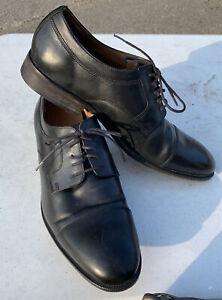 Johnston & Murphy Men's Aristocraft 10.5 Black Cap Toe Oxfords Dress Shoes - USA