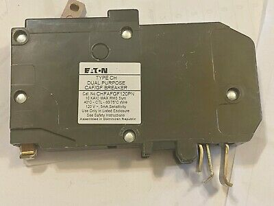 1 NEW EATON CUTLER HAMMER CHFP120DF 20A 1P AFCI GFP CIRCUIT BREAKERS